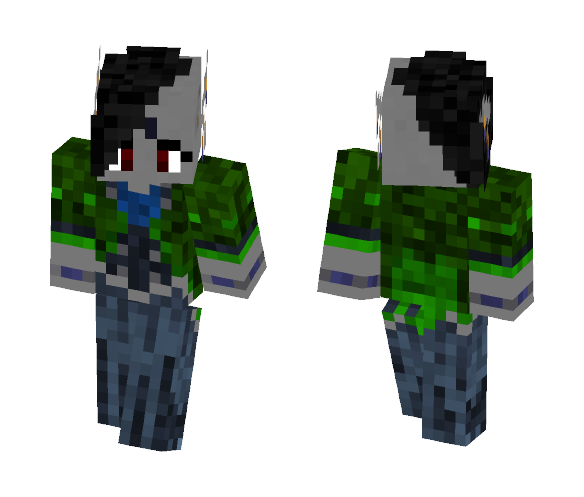 Dark Elven Noble - Green Coat - Female Minecraft Skins - image 1