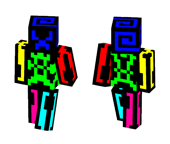 Tron Outfit (multi Clolored Editon) - Interchangeable Minecraft Skins - image 1