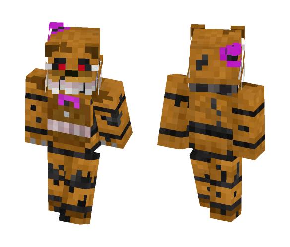 Download Fnaf 4 Nightmare Fredbear Minecraft Skin For Free