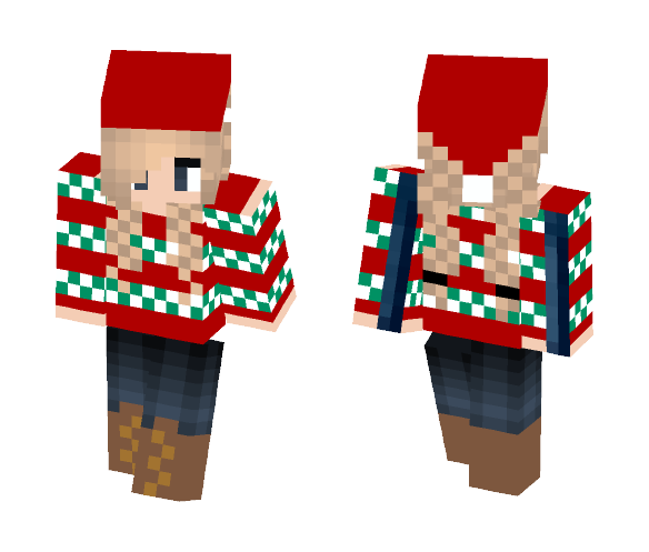 Christmas sweater with Santa hat - Christmas Minecraft Skins - image 1