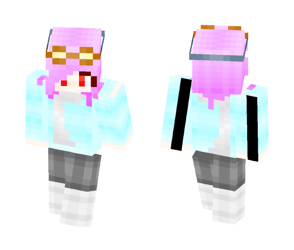 Blue Soul Goggles - Female Minecraft Skins - image 1