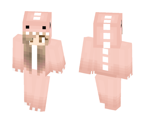 Download Pink Pastel Dino Girl Minecraft Skin For Free