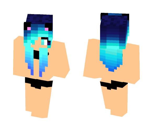 Neko Girl In Bikini - Girl Minecraft Skins - image 1