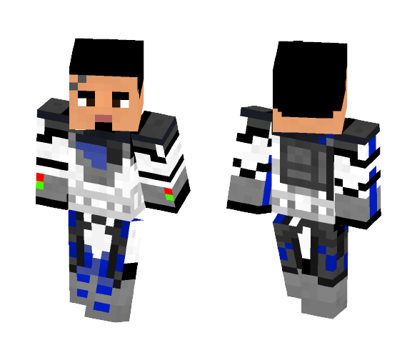 Clone Trooper Fives without helmet - Male Minecraft Skins - image 1