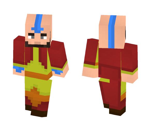 aang minecraft skin