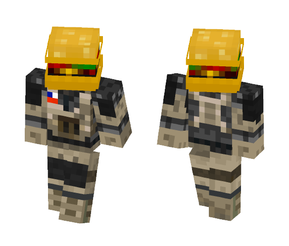 Private BurgerFace - Male Minecraft Skins - image 1