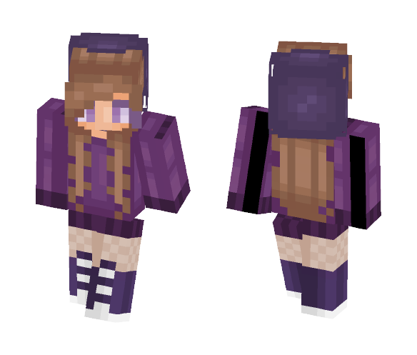 It's Cold Outside - Purple Sweater - Female Minecraft Skins - image 1