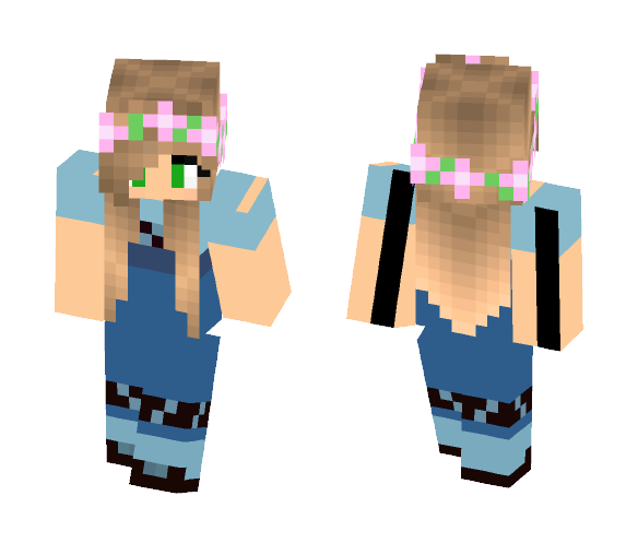 Download Little Kelly/Young Elsa Mashup Minecraft Skin for