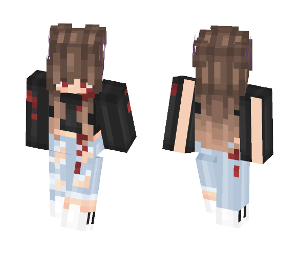 Purple Horns Girl ; Wonderlanq Req - Female Minecraft Skins - image 1