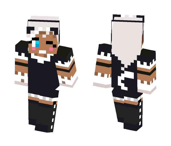 Download Cat Eyed Girl (Xbox 360 Skin) Minecraft Skin for