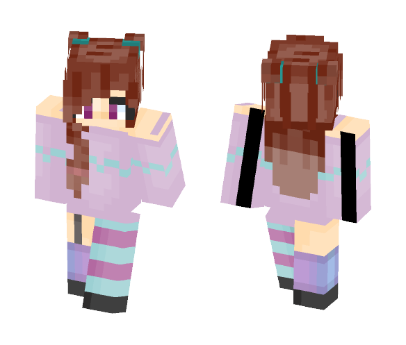 Cotton Candy Cloud - Female Minecraft Skins - image 1