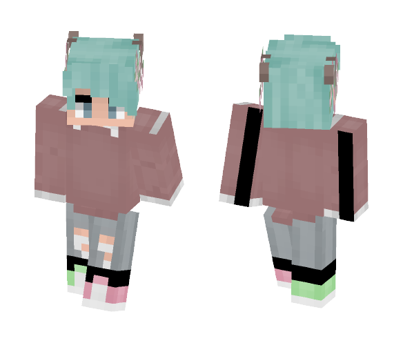 antlers + flowers x - Interchangeable Minecraft Skins - image 1
