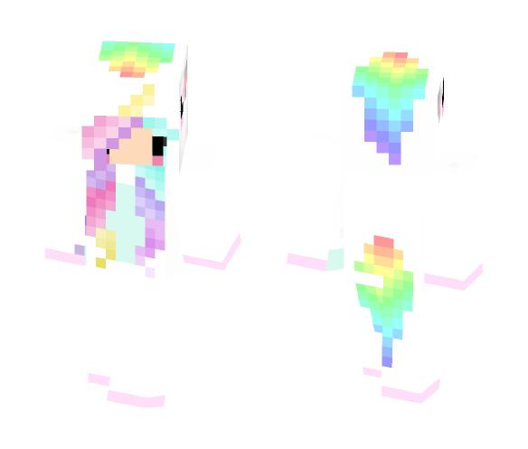 Download Rainbow Unicorn Girl Minecraft Skin For Free