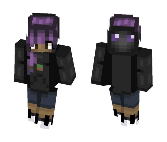 Enderman Costume Girl! - Female Minecraft Skins - image 1