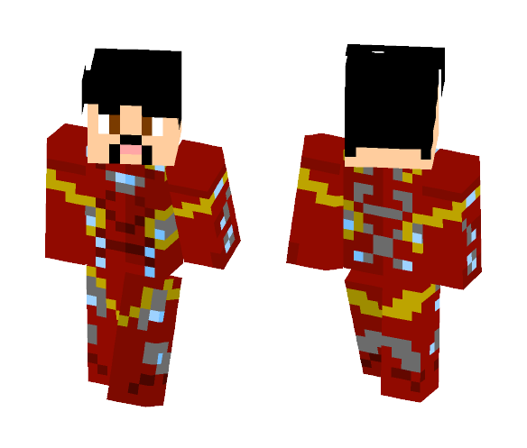 Iron Man MK46 - Mask Off - Iron Man Minecraft Skins - image 1