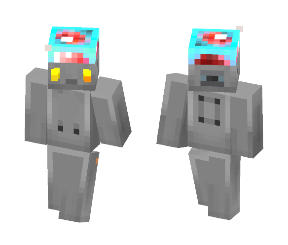 Robot bread toss the balloon - Interchangeable Minecraft Skins - image 1