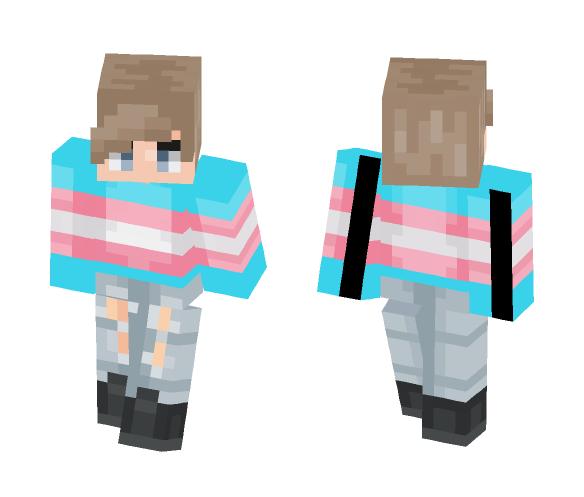 ~Trans Pride~ (Request) - Male Minecraft Skins - image 1