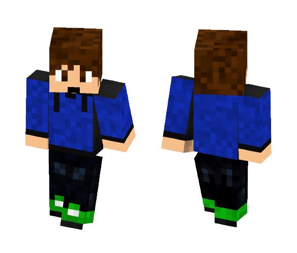 Classic Guy With Blue Hoodie - Male Minecraft Skins - image 1