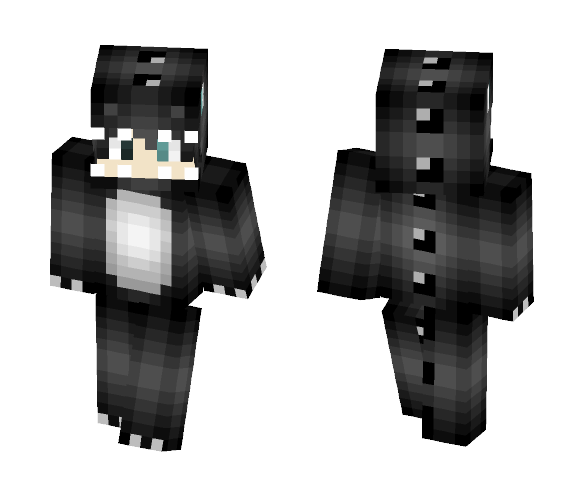 BlackDino - Male Minecraft Skins - image 1