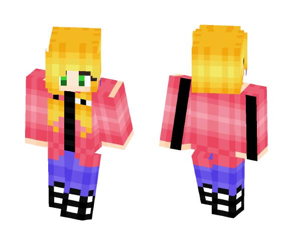Pink Pineapples - 3D Art - Female Minecraft Skins - image 1