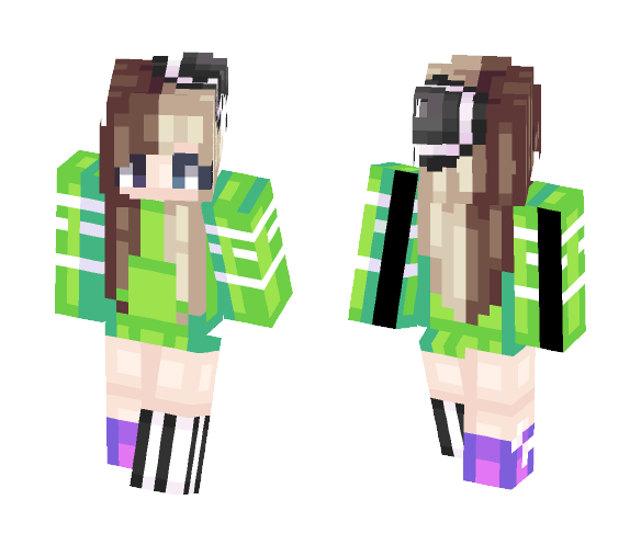WOW BRIGHT COLORS - Female Minecraft Skins - image 1