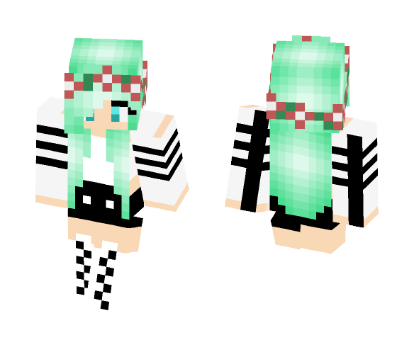Download Green Hair Girl Minecraft Skin For Free Superminecraftskins