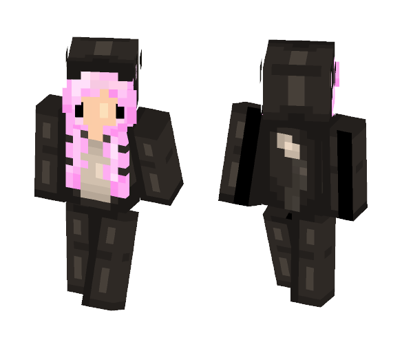 Pinky Peach Cat Skin (Edited) - Cat Minecraft Skins - image 1
