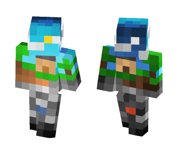 Download 8 Bit Day And Night Minecraft Skin For Free