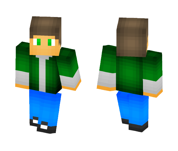 Boy in green shirt :) - Male Minecraft Skins - image 1