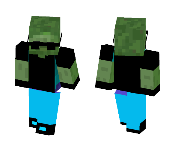 Dale The Zombie - Male Minecraft Skins - image 1