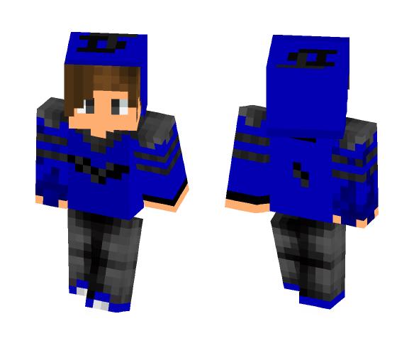 Blue pvp skin :) - Male Minecraft Skins - image 1