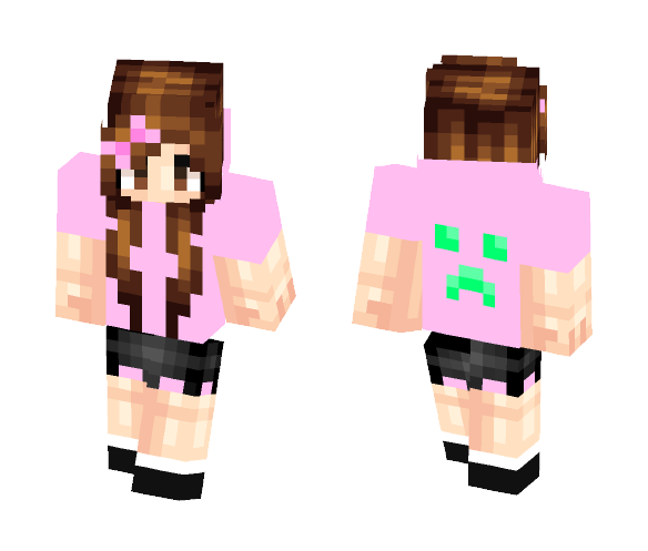 Download Pink Hoodie Girl Minecraft Skin For Free Superminecraftskins