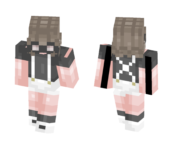 I saw the galaxy in her eyes - Fxck - Female Minecraft Skins - image 1