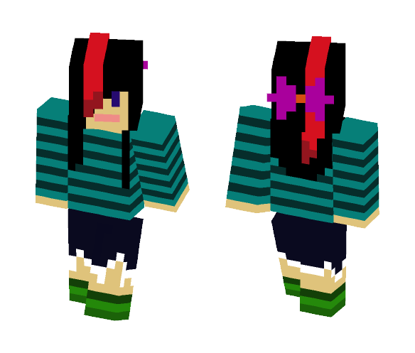 Tough pink bow - Female Minecraft Skins - image 1