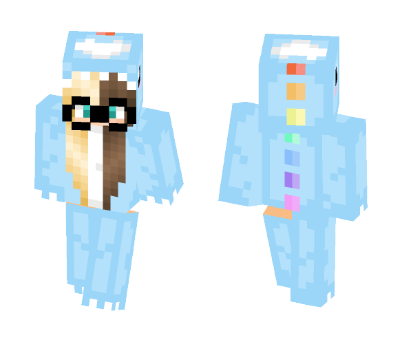be47f927cb Download Blue Dino Onesie With Glasses Minecraft Skin for Free ...