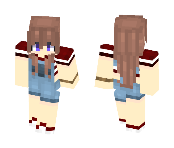 Trendy Overall Girl - Girl Minecraft Skins - image 1