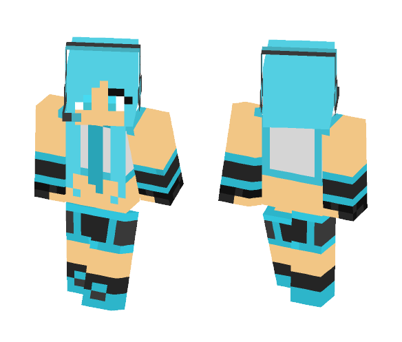 Download Hatsune Miku The VocaLoid Minecraft Skin for Free
