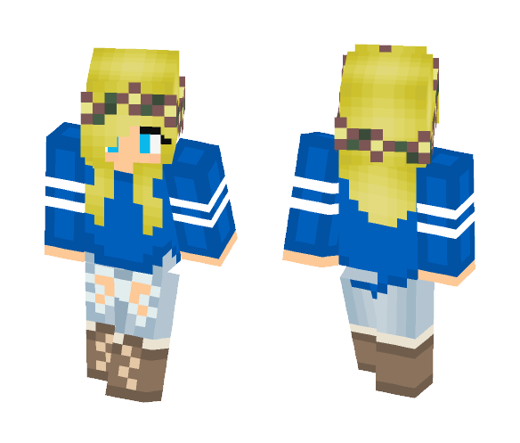 Blue Flower Crown Minecraft Skin - Flowers Healthy