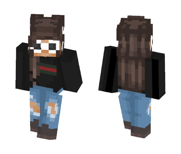 wolf with glasses minecraft skin
