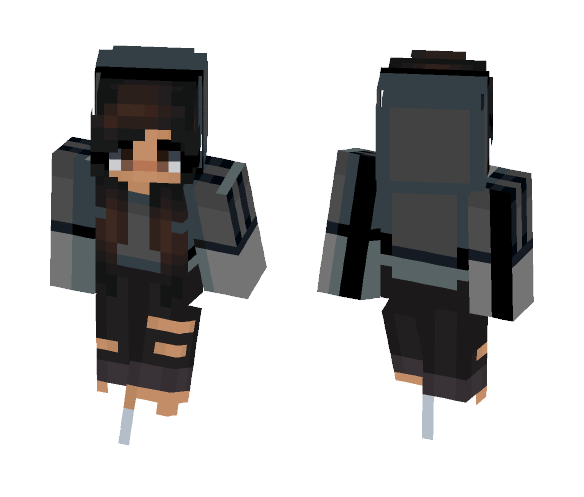 Download Cute Kawaii Hoodie Girl Minecraft Skin For Free