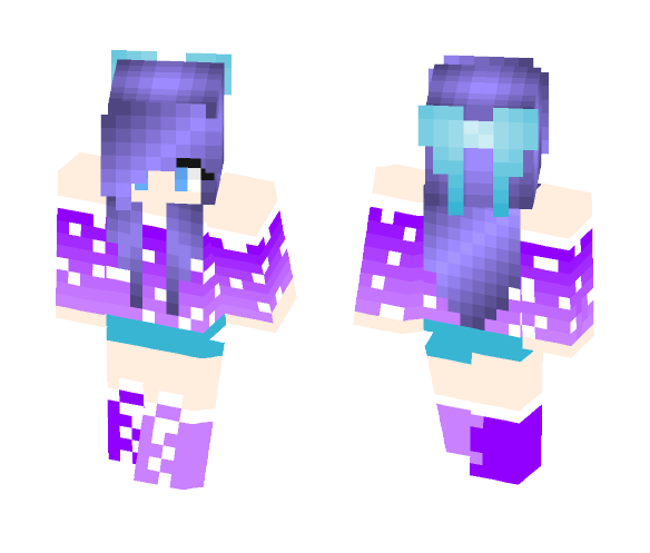 Download Galaxy Girl Minecraft Skin for Free