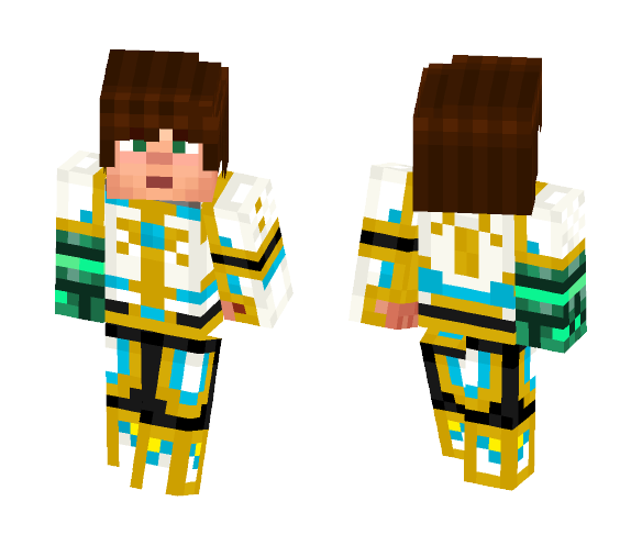 Download Jesse With Tim S Armor And Gauntlet Minecraft Skin For