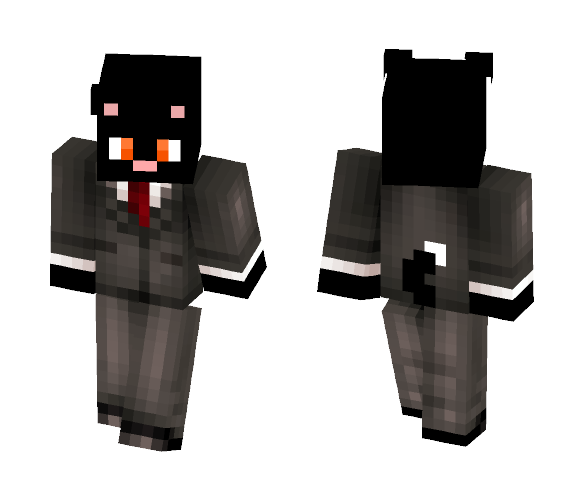 Download Black Cat in a Tux! Minecraft Skin for Free