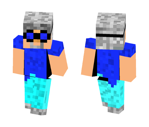 steve's grandpa with goggles - Male Minecraft Skins - image 1