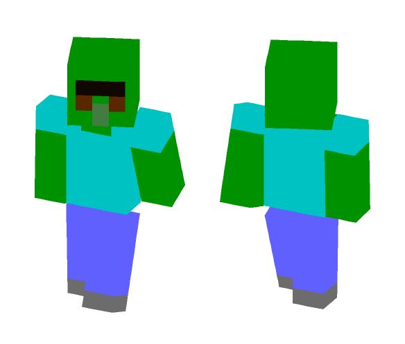 Download 8 Bit Zombie Villager Minecraft Skin For Free