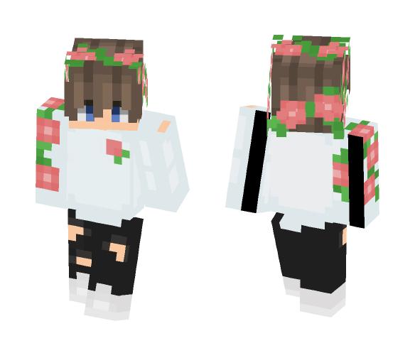 Minecraft Skin Flower Boy - Flowers Healthy