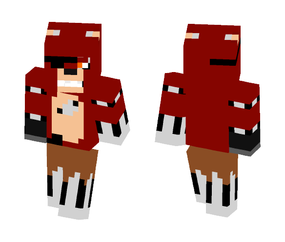 Download FNAF 1 - Foxy Minecraft Skin for Free
