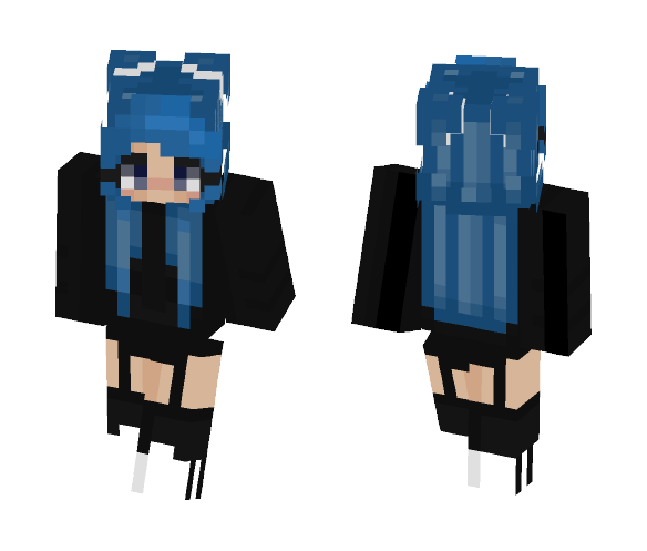 Download Blue Hair Minecraft Skin For Free