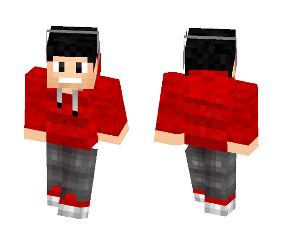 Red Music fanatic - Male Minecraft Skins - image 1