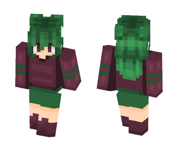 Get Green Hair Cool Minecraft Skin For Free Superminecraftskins